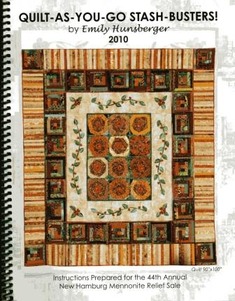 Front page of Quilt As You Go Stash Busters manual