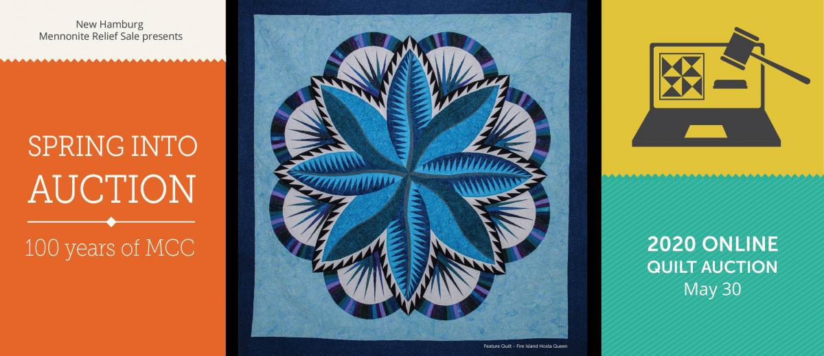 Spring into Auction: 100 years of MCC. online Quilt Auction May 30.